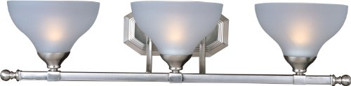 Maxim Lighting 21273FTSN Contour 3-Light Bath Vanity, Satin Nickel Finish with Frosted Glass