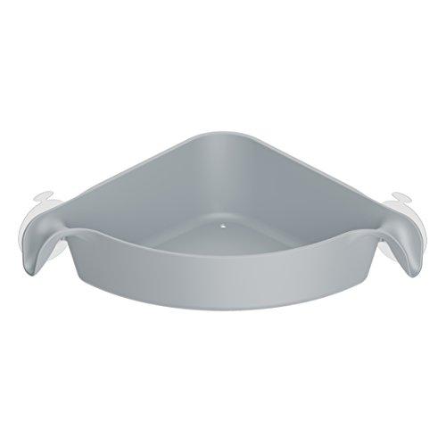 Koziol corner organizer Boks, thermoplastic, transparent anthracite, 19.2 x 19.2 x 7.4 cm Cool Grey
