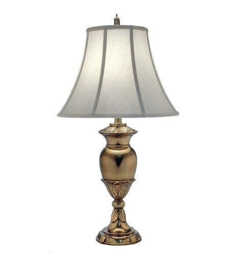 (Stiffel TL-N8451-BB One Light Table Lamp, Burnished Brass Finish with Pear Supreme Satin Shade)
