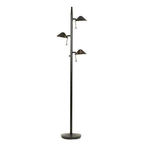 Tree Design Floor Lamps (Black Halogen Tree Lamp with Three Directional Lights)