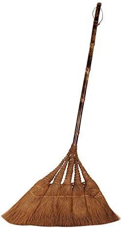 DIAN Rica en el hogar Tradicional de mijo Yarda del jardín de Cepillo Cepillo for Barrer la manija, Hecho a Mano de Paja Cola de Caballo: Amazon.es: Hogar