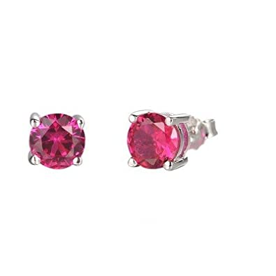 7487ffb1ad8d1 Buy Ornate Jewels Simply Best Pink Ruby 925 Sterling Silver ...
