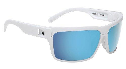 Spy Optics Cutter White Wrap Sunglasses,White,65 - Fast Track Sunglasses