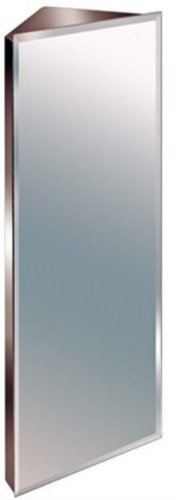 Zanex Bevelled Edge 1200mm Stainless Steel Mirror Bathroom Corner Cabinet