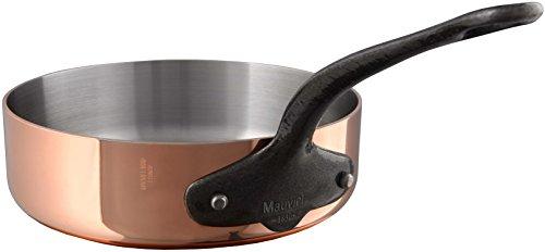 Mauviel 6541.28 M'Heritage M250C 2.5mm Copper Saute Pan, 5.2 quart, ()