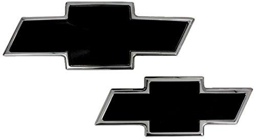 All Sales 96108KP Ami Chevy Bowtie Grille and Lift Gate Emblem, Polished/Black (Pack of 2)