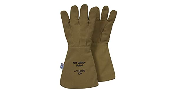 e55a4d1b72f2 National Safety Apparel G51KDQE18 ArcGuard DuPont Kevlar Nomex Para Aramid Arc  Flash Gloves