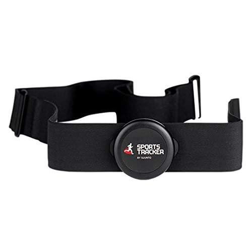 Suunto Sports Tracker Smart Sensor mit verstellbarem Brustgurt (XS-XL), Herzfrequenzmesser bei Multisport, Schwarz, SS022154000