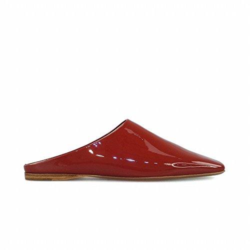 Ruggine ferr 39 rossa DHG estive Scarpe basse netta indossare da per pantofola mulo Mezza pigre scarpe di OUqOZxp