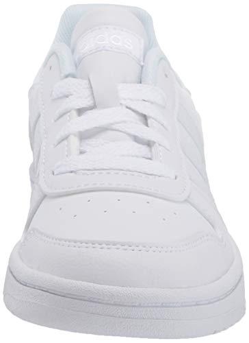 adidas Hoops 2.0 K Sneaker, FTWR White/FTWR White/FTWR White, 6 M US