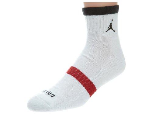 Jordan Mens Drifit Tipped Qtr Style: 546485-100 Size: M (Jordan Dri Fit Socks)