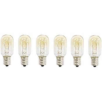 25 Watt tubular bulbs for Himalayan Salt Lamps (Package of 6 bulbs) - fits 3bee9b6be5ec