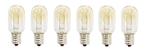 25 Watt tubular bulbs for Himalayan Salt Lamps (Package of 6 bulbs) - fits E12 Socket Long Tail Industry SLB25W-6