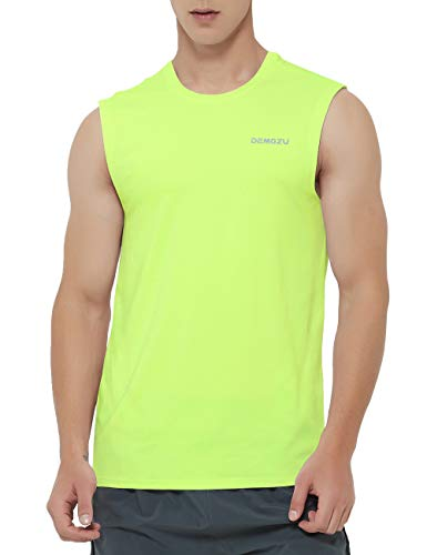 DEMOZU Men's Sleeveless Shirt Quick Dry Workout Athletic Gym Muscle Bodybuilding Swim Tank Top (Reg/Big and Tall)