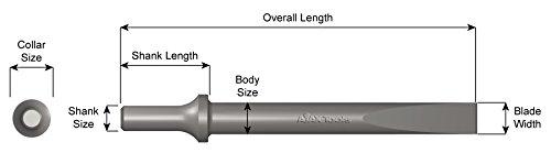 960-12 .498 Shank 5//8 Width Flat Chisel 12 Length