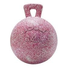 Jolly Ball - Peppermint Scented red/White Speckle by William Hunter Equestrian