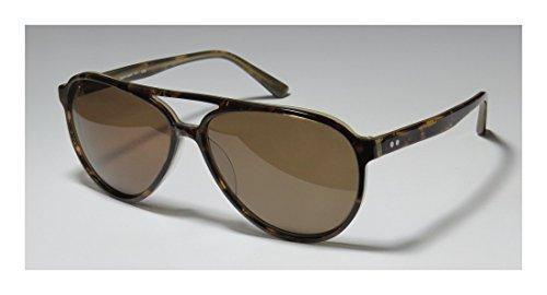 Ogi 8051 MensWomens Aviator Full-rim SunglassesEyewear (59-14-140 Havana  Taupe)