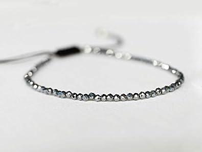 Sovats Am/éthyste R/églable Bracelet 925 Sterling Silver Cordon Tress/é Bracelet Pour Femmes Hommes Filles Gar/çons