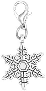Snowflake Stainless Steel Clasp Clip on Charm 79C Its All About...You