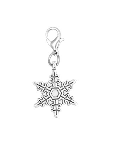 It's All About...You! Snowflake Clip on Charm Perfect for Necklaces and Bracelets 100P