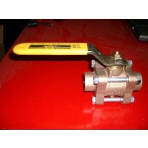 MILWAUKEE VALVE CO 17824/600WOG/150SWP 1'' BRONZE BALL VALVE