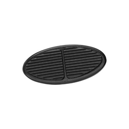 Lokar XBAG-6107 Black Oval Aluminum Brake Pad by Lokar