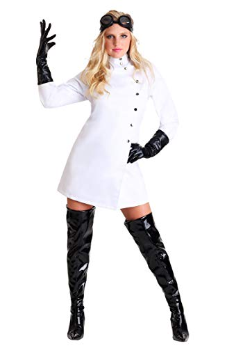 Women's Mad Scientist Costume Medium White -