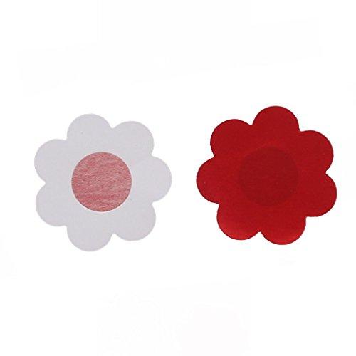 10 pcs Sujetador Invisible Pegatina Cojín de La Teta Sostén Invisible, forma de cruz, color Beige. Rojo