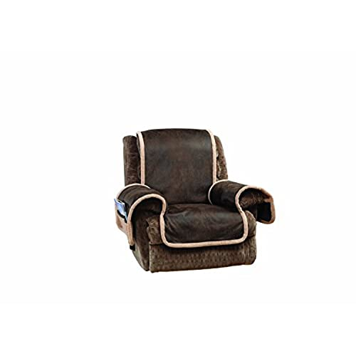 Sure Fit Vintage Leather   Recliner Slipcover   Brown (SF44903)