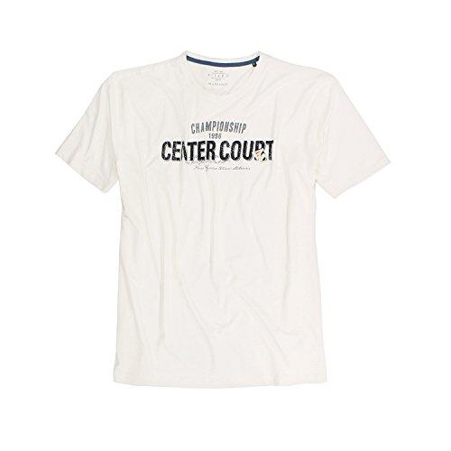 Offwhite T-Shirt von Kitaro in großen Größen bis 8XL