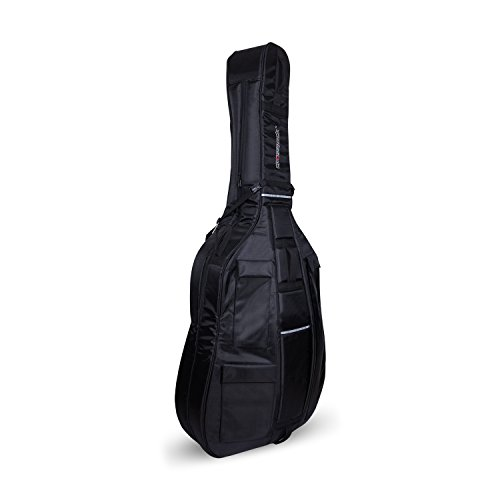 Crossrock Upright String Double Bass Soft Gig Bag with Padded Backpack Straps in Black (CRDB206DBBK)