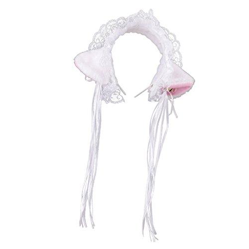 MagiDeal Halloween Lolita Maid Hair Accessory Cat Ear Hair Hoop Fancy Dress Party - 1, 10cm -
