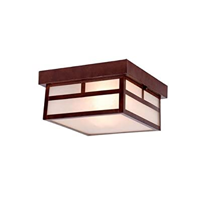 Acclaim Lighting 4710 Artisan 2 Light Outdoor Flush Mount Ceiling Fixture with F,