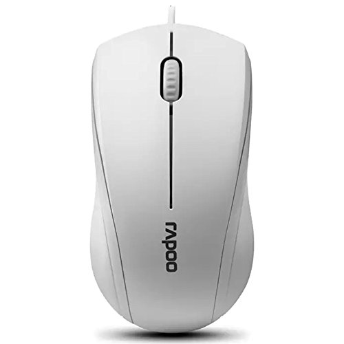 Rapoo 3-Button Wired USB Optical Silent Mouse