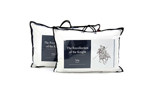 Crown Goose Luxurious White Goose Down Bed Pillow with European 875 Fill Power, Standard Size (27 oz, Set of 2)