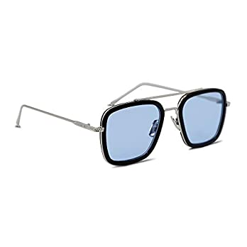 GAINX Tony Stark Avengers Infinity War Sunglasses-Blue,Silver