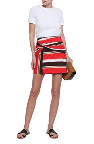 3.1 Phillip Lim Striped Wrap Poppy-White Skirt ()