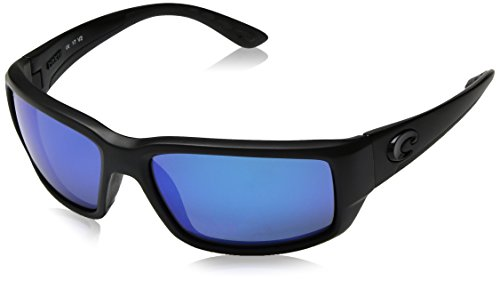 Costa Del Mar Fantail Sunglasses, Blackout, Blue Mirror 580 Glass - Glasses Blackfin Frames