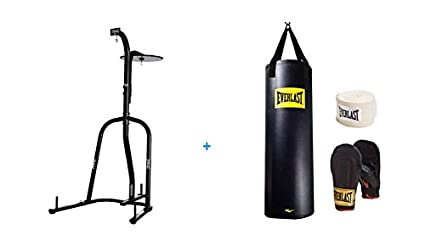 35ac7fe1e64 Image Unavailable. Image not available for. Color  Everlast Dual-Station Heavy  Bag Stand and 100lb ...