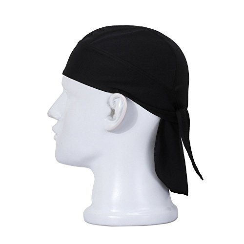 - Wicking Beanie Adjustable Cycling Bandana - Skull Cap Beanie for Outdoor Running - Double Dry Dew Doo Rag Head Wrap Headband Sweatband