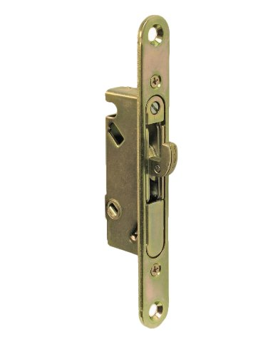 """Bali Nai Sliding Glass Door Handle and Mortise Lock Set with Oak Wood Pull in White Finish, Standard 3-15/16"""" CTC Screw Holes, 1-1/2'' Door Thickness by FPL Door Locks and Hardware Inc. (Image #1)"""