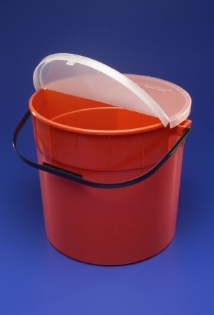 (Multi-purpose Sharps Container Sharps-A-Gator 1-Piece 7.5 Gallon Red Base Vertical Entry Lid)