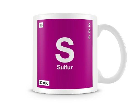 Periodic table of elements 16 s sulfur symbol mug amazon periodic table of elements 16 s sulfur symbol mug urtaz Image collections