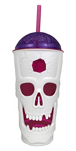 Cool Gear Halloween Tumblers (Cool Gear Halloween Skull Sipper - 22 Ounce Tumbler with Seal Tight Lid (Purple)