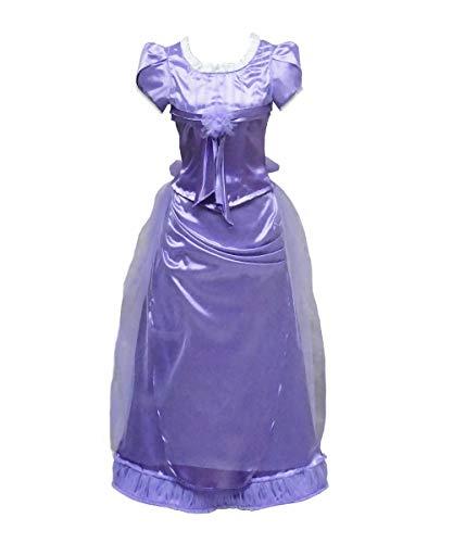 Clara Nightgown Costume (Women Light Purple Dress Soldier Suit Costume for Halloween Cosplay (Women XS, Clara Purple)