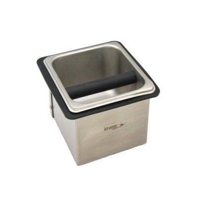 Box Knock Espresso Spent Grounds (Krome Dispense C333 Counter Top Knock Box, Stainless Steel, 7.09