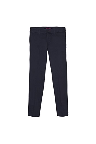 French Toast Big Girls' Straight Leg Pant, Navy, 14 by French Toast