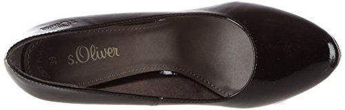s.Oliver 22400, Zapatos de Tacón para Mujer Negro (Black Patent 18)