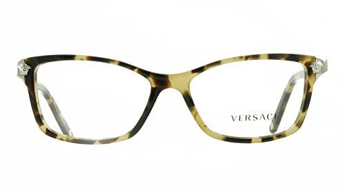 New Versace VE 3156 A 988 Havana Eyeglass Frames Made in Italy 53mm New