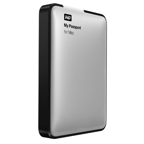 WD 1TB Silver My Passport for Mac Portable  External Hard Drive  - USB 3.0  - WDBLUZ0010BSL-NESN